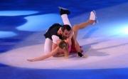Foto/IPP/Gioia Botteghi 28/02/2015 Roma seconda puntata di Notti sul ghiaccio, nella foto: Giorgio Borghetti e Federica Costantini la caduta