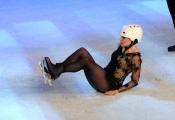 Foto/IPP/Gioia Botteghi 28/02/2015 Roma seconda puntata di Notti sul ghiaccio, nella foto: Manuela Di Centa la caduta
