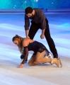 Foto/IPP/Gioia Botteghi 28/02/2015 Roma seconda puntata di Notti sul ghiaccio, nella foto: Barbara De Rossi la caduta