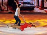 Foto/IPP/Gioia Botteghi 07/03/2015 Roma terza puntata di Notti sul ghiaccio, nella foto: Barbara De Rossi e Simone Vaturi