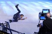 Foto/IPP/Gioia Botteghi 07/03/2015 Roma terza puntata di Notti sul ghiaccio, nella foto: Stefano Sala la caduta