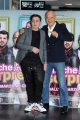 Foto/IPP/Gioia Botteghi 02/03/2015 Roma presentazione del film MA CHE BELLA SORPRESA, nella foto:i Claudio Bisio con Gennaro Cuomo