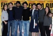 Foto/IPP/Gioia Botteghi 06/03/2015 Roma presentazione del film Fino a qui tutto bene, nella foto: il cast