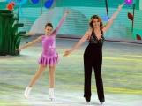 Foto/IPP/Gioia Botteghi 21/03/2015 Roma finale di Notti sul ghiaccio, nella foto Claudia Gerini con la figlia Rosa