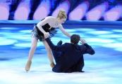 Foto/IPP/Gioia Botteghi 21/03/2015 Roma finale di Notti sul ghiaccio, nella foto  i secondi classificati Emanuele Filiberto di Savoia e Jennifer Wester la caduta