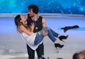 Foto/IPP/Gioia Botteghi 21/03/2015 Roma finale di Notti sul ghiaccio, nella foto il vincitore Girgio Rocca con la fidanzata Gaia Cansani