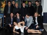Foto/IPP/Gioia Botteghi 25/03/2015 Roma presentata del film SOLDATO SEMPLICE, nella foto Paolo Cevoli con il cast e l'unica ragazza Paola Lavini