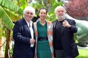 Foto/IPP/Gioia Botteghi 01/04/2015 Roma presentata della fiction di raiuno UNA CASA NEL CUORE, nella foto: Simone Montedoro con Giorgio Colangeli e Nadia Kibout