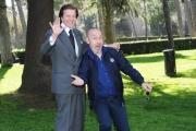 Foto/IPP/Gioia Botteghi 02/04/2015 Roma presentata del film UNO ANZI DUE, nella foto:    Maurizio Battista con Silvan