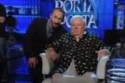 Foto/IPP/Gioia Botteghi 07/04/2015 Roma Porta a porta ospite paolo Villaggio per i 40 anni di Fantozzi, nella foto con il figlio Piero