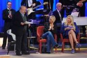 Foto/IPP/Gioia Botteghi10/04/2015 Roma Registrazione della puntata del Maurizio Costanzo Show, nella foto, Costanzo, De Filippi, Venier