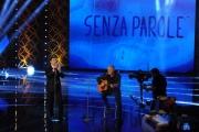 Foto/IPP/Gioia Botteghi 11/04/2015 Roma  prima puntata di SENZA PAROLE condotto da Antonella Clerici, nella foto Fabrizio e Fabio Frizzi