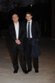 Foto/IPP/Gioia Botteghi 14/04/2015 Roma  serata di gala per la presentazione del film I BAMBINI SANNO, nella foto: Carlo Verdone con il figlio