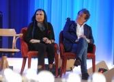 Foto/IPP/Gioia Botteghi 19/04/2015 Roma  seconda puntata del Maurizio Costanzo Show, nella foto: Loredanan Bertè e Enzo Iacchetti