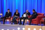Foto/IPP/Gioia Botteghi 19/04/2015 Roma  seconda puntata del Maurizio Costanzo Show, nella foto: Benedetta Parodi e Fabio Caressa, Carlo Conti