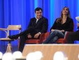 Foto/IPP/Gioia Botteghi 19/04/2015 Roma  seconda puntata del Maurizio Costanzo Show, nella foto: Benedetta Parodi e Fabio Caressa