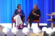 Foto/IPP/Gioia Botteghi 19/04/2015 Roma  seconda puntata del Maurizio Costanzo Show, nella foto: Paola Concia e Ricarda Concia