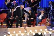 Foto/IPP/Gioia Botteghi 19/04/2015 Roma  seconda puntata del Maurizio Costanzo Show, nella foto: Carlo Brenner Sgarbi,  Bertè, Iacchetti