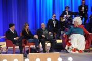 Foto/IPP/Gioia Botteghi 19/04/2015 Roma  seconda puntata del Maurizio Costanzo Show, nella foto: Benedetta Parodi e Fabio Caressa, Platinette