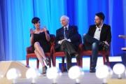 Foto/IPP/Gioia Botteghi 03/05/2015 Roma  quarta puntata del Maurizio Costanzo Show , nella foto: Roberta Giarrusso, Piero Angela, Andrea Scanzi