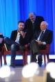 Foto/IPP/Gioia Botteghi 03/05/2015 Roma  quarta puntata del Maurizio Costanzo Show , nella foto: Piero Angela, Andrea Scanzi