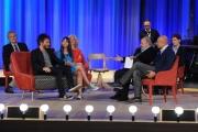 Foto/IPP/Gioia Botteghi 03/05/2015 Roma  quarta puntata del Maurizio Costanzo Show , nella foto:  Nek  con la figlia Martina  Marisio Neviani, Alfonso Signorini