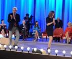 Foto/IPP/Gioia Botteghi 03/05/2015 Roma  quarta puntata del Maurizio Costanzo Show , nella foto:  Barbara Palombelli, Francesco Rutelli