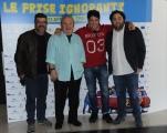 Foto/IPP/Gioia Botteghi 20/04/2015 Roma  presentazione del film LE FRISE IGNORANTI, nella foto: Dario Bandiera, Banfi Pannofino e Nicola Nocella