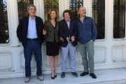 Foto/IPP/Gioia Botteghi 21/04/2015 Roma  presentazione del film BASTA POCO, nella foto: Andrea Muzzi   Riccardo Paoletii, Daniela Poggi , Dino Zoff