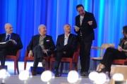 Foto/IPP/Gioia Botteghi 26/04/2015 Roma   terza puntata del Maurizio Costanzo Show, nella foto:  Aldo Cazzullo, Rudy Zerbi, Davide Mengacci, Massimo Lopez