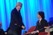 Foto/IPP/Gioia Botteghi 26/04/2015 Roma   terza puntata del Maurizio Costanzo Show, nella foto: Vittorio Sgarbi , Carlo Brenner Sgarbi
