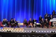 Foto/IPP/Gioia Botteghi 26/04/2015 Roma   terza puntata del Maurizio Costanzo Show, nella foto: Vittorio Sgarbi , Carlo Brenner Sgarbi, in lite