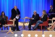 Foto/IPP/Gioia Botteghi 26/04/2015 Roma   terza puntata del Maurizio Costanzo Show, nella foto: Vittorio Sgarbi , Maria Elena Fabi
