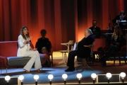 Foto/IPP/Gioia Botteghi 26/04/2015 Roma   terza puntata del Maurizio Costanzo Show, nella foto: Costanzo, Claudia Galanti