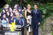 Foto/IPP/Gioia Botteghi 27/04/2015 Roma  Presentazione del film PITCH PERFECT 2, nella foto:  ELIZABETH BANKS  e il Produttore MAX HANDELMAN