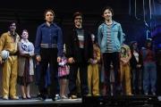 Foto/IPP/Gioia Botteghi 29/04/2015 Roma  Presentazione al teatro Sistina della versione italiana di Billy Elliot, nella foto Alessandro Frola e Christian Roberto, Simone Romualdi