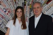 Foto/IPP/Gioia Botteghi 18/05/2015 Roma Michele Santoro e Giulia Innocenzi hanno presentato alla stampa la nuova edizione di ANNOUNO per La7