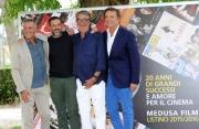 Foto/IPP/Gioia Botteghi 30/06/2015 Roma 20 anni di MEDUSA, nella foto: Genovese, Neri Parente De Sica Ghini