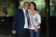 Foto/IPP/Gioia Botteghi 28/7/2015 Roma presentazione della Domenica sportiva Rai, nella foto: Giusy Versace con il direttore di rai sport Carlo Paris