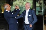 Foto/IPP/Gioia Botteghi 28/7/2015 Roma presentazione della Domenica sportiva Rai, nella foto: Giovanni Trapattoni con il direttore di rai sport Carlo Paris