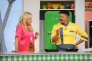 Foto/IPP/Gioia Botteghi 01/09/2015 Roma La prova del cuoco dagli studi di cinecittà la nuova versione , nelle foto: Antonella Clerici e Hiro Shoda cuoco giapponese