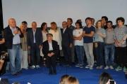 Foto/IPP/Gioia Botteghi 07/09/2015 Roma compleanno sotto casa di Camilleri, nelle foto anche il presidente della rai Monica Maggioni che è andata a prenderlo a casa