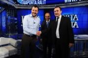 Foto/IPP/Gioia Botteghi 05/10/2015 Roma puntata di porta a porta con Ettore Rosato e Matteo Salvini