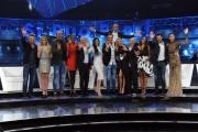 Foto/IPP/Gioia Botteghi 09/04/2015 Roma registrazione dello spot della trasmissione Si può fare, nella foto: Carlo Conti con i concorrenti