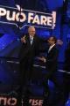 Foto/IPP/Gioia Botteghi 09/04/2015 Roma registrazione dello spot della trasmissione Si può fare, nella foto: Carlo Conti con Pippo Baudo
