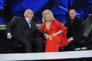 Foto/IPP/Gioia Botteghi 09/04/2015 Roma registrazione dello spot della trasmissione Si può fare, nella foto: Pippo Baudo Amanda Lear Yuri Chechi