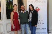 Foto/IPP/Gioia Botteghi 12/10/2015 Roma presentazione del film La bugia bianca , nella foto: il regista Giovanni Virgilio con Francesca Di Maggio e Federica De Benedittis