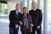 Foto/IPP/Gioia Botteghi 15/10/2015 Roma presentazione del film era d'estate, nella foto:  Beppe Fiorello con Massimo Popolizio e la regista Fiorella Infascelli