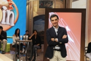 Foto/IPP/Gioia Botteghi 17/10/2015 Roma prima puntata della trasmissione SABATO IN, nella foto i due conduttori Ingrid Muccitelli e Tiberio Timperi
