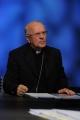Foto/IPP/Gioia Botteghi 18/10/2015 Roma Segretario generale della Cei, Monsignor Nunzio Galantino ospite di Lucia Annunziata nella trasmissione in mezz'ora rai tre